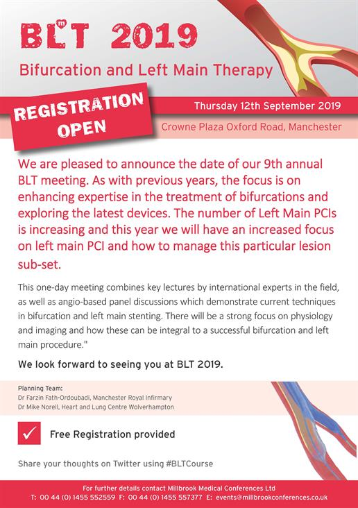 Bifurcation and Left Main Therapy (BLT) 2019